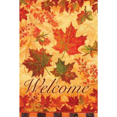 1 ft. x 1-1/2 ft. Garden Suede Fall Leaves Flag