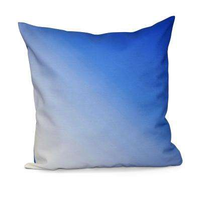 16 in. x 16 in. Ombre Decorative Pillow in Dazzling Blue