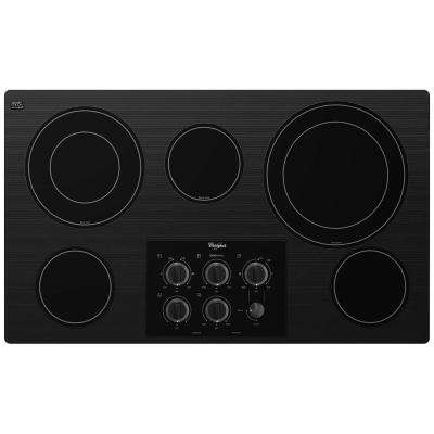 Gold 36 in. Radiant Electric Cooktop in Black with 5 Elements including Dual Radiant Elements