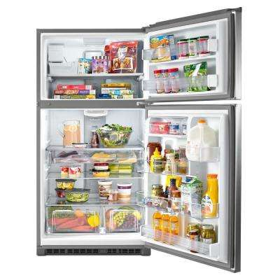 21 cu. ft. Top Freezer Refrigerator in Fingerprint Resistant Stainless Steel