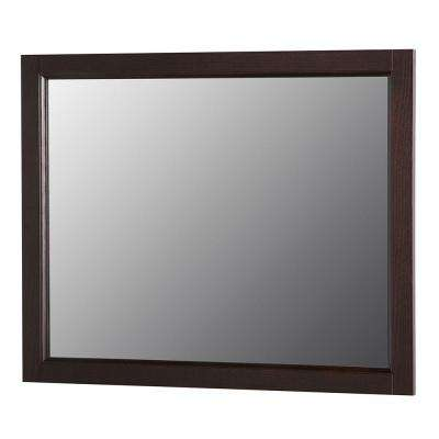 Claxby 31.4 in. W x 25.6 in. H Wall Mirror in Chocolate