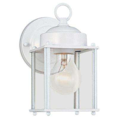 New Castle 1-Light White Outdoor Wall Fixture