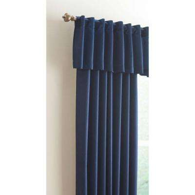15 in. L Monaco Lined Polyester Valance in Navy