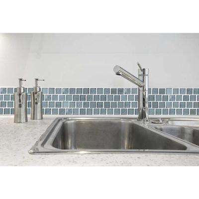Landscape Sand Gray Linear Mosaic 1 in. x 1 in. Glossy Glass Wall Pool and Floor Tile (0.84 Sq. ft.)