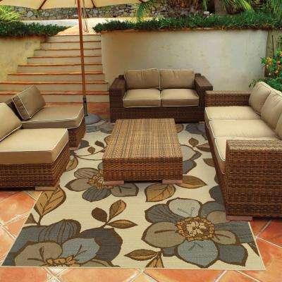 Island Cream 5 ft. x 8 ft. Indoor/Outdoor Area Rug