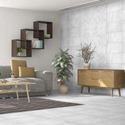 Stonewall White 3 in. x 12 in. Porcelain Floor and Wall Bullnose Tile (5 sq. ft. / case)