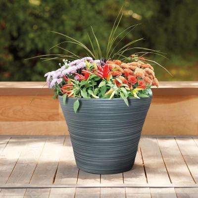 Cabana 16 in. Dia Resin Planter