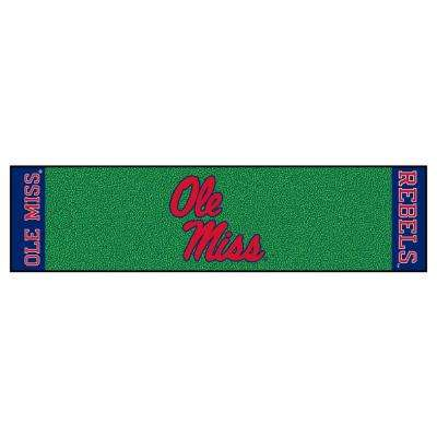 NCAA University of Mississippi Ole Miss 1 ft. 6 in. x 6 ft. Indoor 1-Hole Golf Practice Putting Green