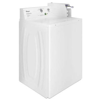 3.3 cu. ft. White Commercial Top Load Washing Machine Coin Operated