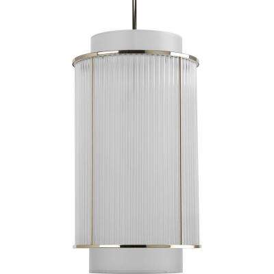 Nisse Collection 2-Light Polished Nickel Foyer Pendant