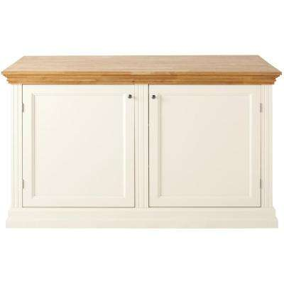 Addison 60 in. W Wood 4-Drawer Kitchen Baking Island in Picket Fence