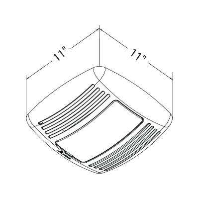 GreenBuilder Series 80 CFM Lighted Ceiling Bathroom Exhaust Fan, Humidity Sensor, Adjustable Speed Control, ENERGY STAR
