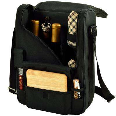 Bordeaux Wine and Cheese Cooler Bag with Glass Wine Glasses Equipped for 2