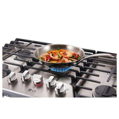 36 in. Gas Cooktop in Stainless Steel with 5 Burners including Ultraheat Dual Burner