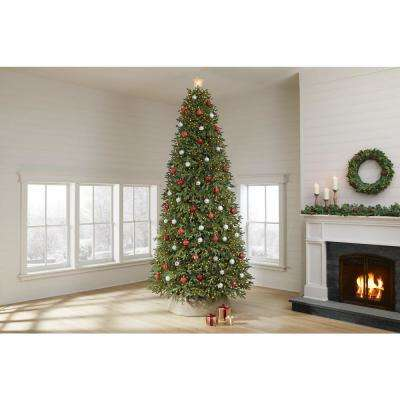 12 ft Jackson Noble Fir LED Pre-Lit Artificial Christmas Tree with 2000 Color Changing Micro Dot Lights