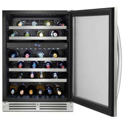 46-Bottle Undercounter Wine Center in Stainless Steel
