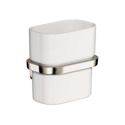 Axor Urquiola Wall-Mounted Tumbler with Holder in Polished Nickel