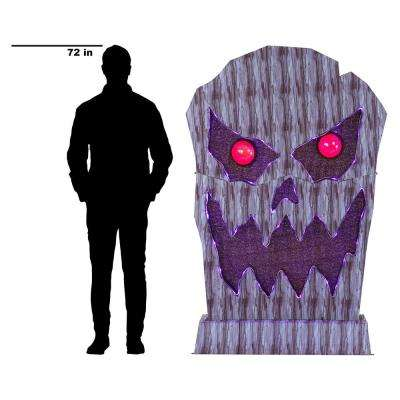72 in. Color Changing LED Jumbo Tombstone Monster