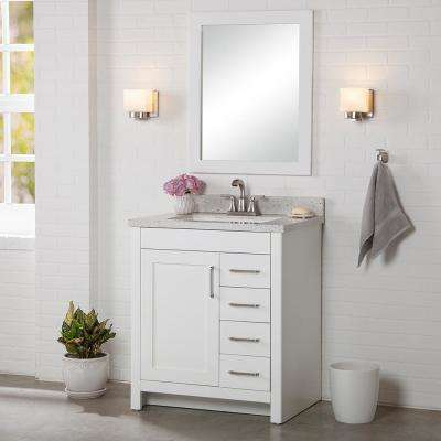 Westcourt 30 in. W x 21 in. D Bathroom Vanity Cabinet Only in White