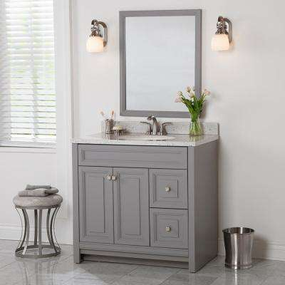 Brinkhill 36 in. W x 34 in. H x 22 in. D Bath Vanity Cabinet Only in Sterling Gray