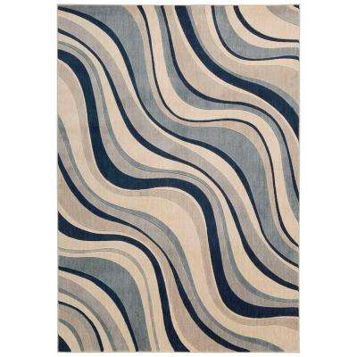 Somerset Ivory/Blue 3 ft. 6 in. x 5 ft. 6 in. Area Rug
