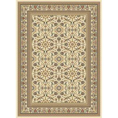 Williams Collection Izmir Ivory 7 ft. 10 in. x 10 ft. 10 in. Area Rug