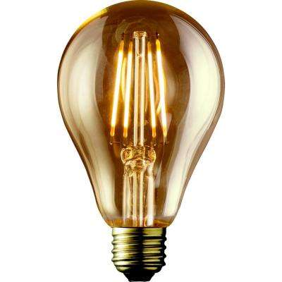 60W Equivalent Warm White A19 Amber Lens Vintage Victorian Dimmable LED Light Bulb (2-Pack)