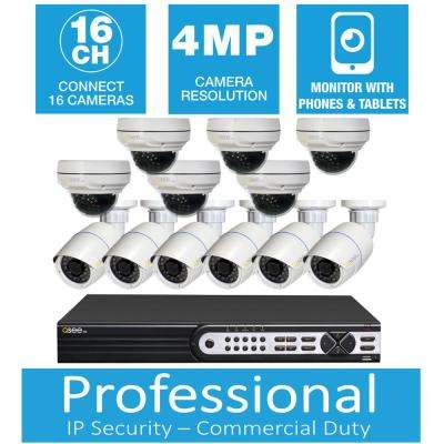 Freedom Series 16-Channel 4MP 3TB Network Video Recorder with (12) 4MP High Definition Cameras