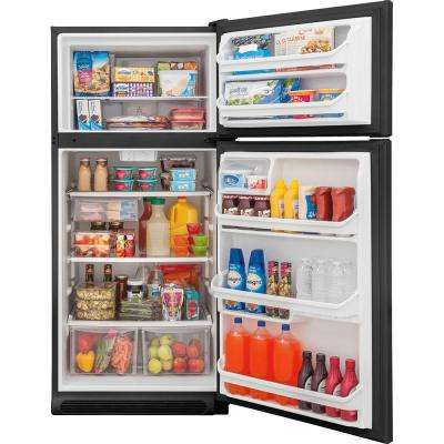 20.4 cu. ft. Top Freezer Refrigerator in Black