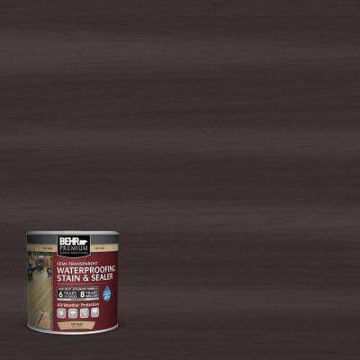 8 oz. #ST104 Cordovan Brown Semi-Transparent Waterproofing Stain and Sealer Sample