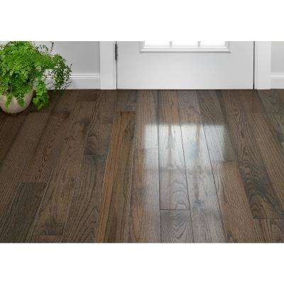 Plano Oak Gray 3/4 in. Thick x 5 in. Wide x Varying Length Solid Hardwood Flooring (23.5 sq. ft. / case)