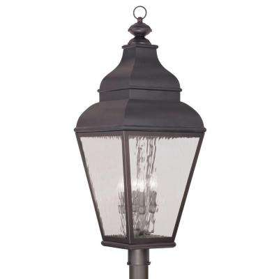 Providence 4-Light 30.5 in. Outdoor Charcoal Post Head Lantern