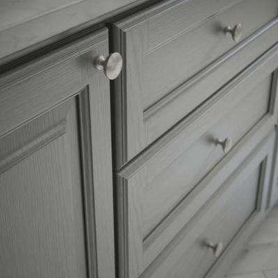 Essentials Fulton 1-3/16 in. (30 mm) Satin Nickel Cabinet Knob (10-Pack)