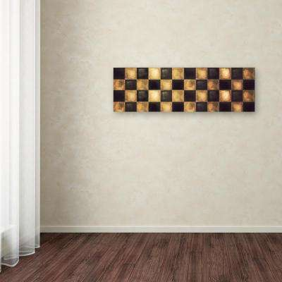 "16 in. x 47 in. ""Checkered"" by Color Bakery Printed Canvas Wall Art"