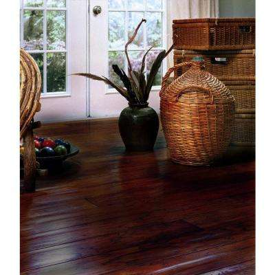 Handscrape Hickory Cocoa 3/4 in. Thick x 4 in. Width x Random Length Solid Real Wood Flooring 21 sq. ft. / case