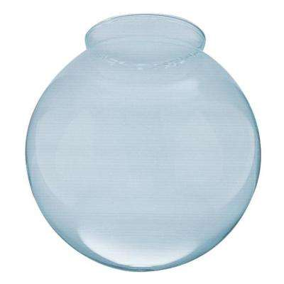 8 in. Handblown Gloss Clear Globe with 4 in. Fitter