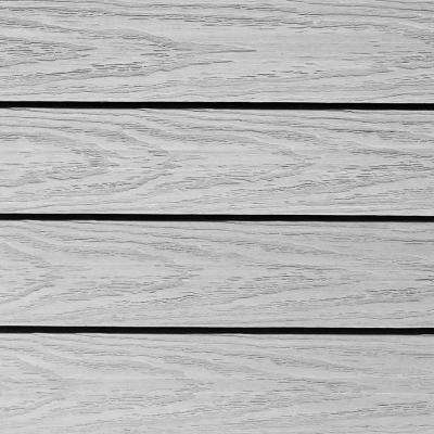 UltraShield Naturale 1 ft. x 1 ft. Quick Deck Outdoor Composite Deck Tile Sample in Icelandic Smoke White
