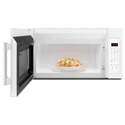 30 in. W 1.7 cu. ft. Over the Range Microwave Hood in White