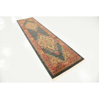 Sahand Arsaces Navy Blue 2' 7 x 10' 0 Runner Rug