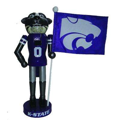 12 in. Kansas State Mascot Nutcracker with Flag