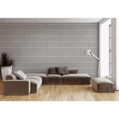ABRA Collection Silver Flora Removable and Repositionable Wallpaper