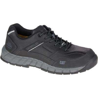 Streamline Leather Men's Black Composite Toe Shoes