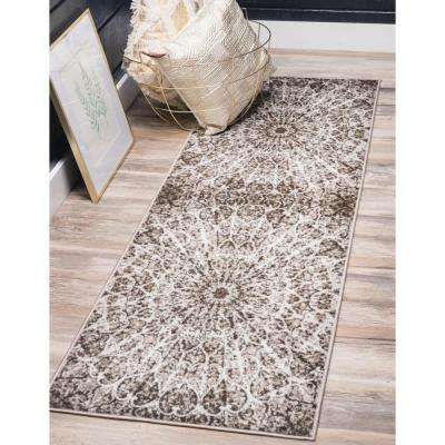 Sofia Grace Brown 3' 3 x 16' 5 Runner Rug