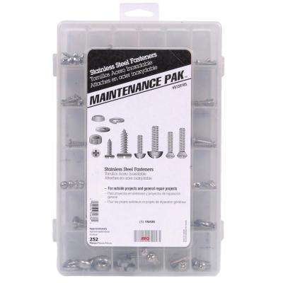 Stainless Steel Fastners Assortment Kit (252-Piece)