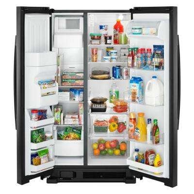 21.4 cu. Ft. Side by Side Refrigerator in Black