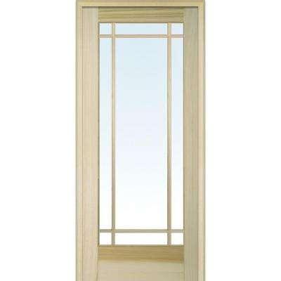 Classic Clear Glass 9 Lite Poplar Interior