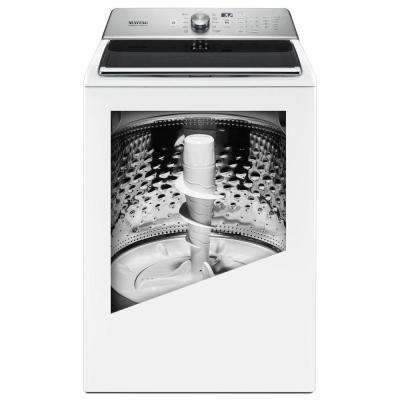 5.2 cu. ft. Top Load Washer with the Deep Fill Option and Power Wash Cycle in White