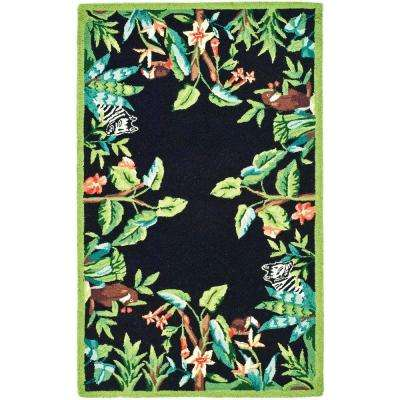 Chelsea Black/Green 2 ft. 6 in. x 4 ft. Area Rug