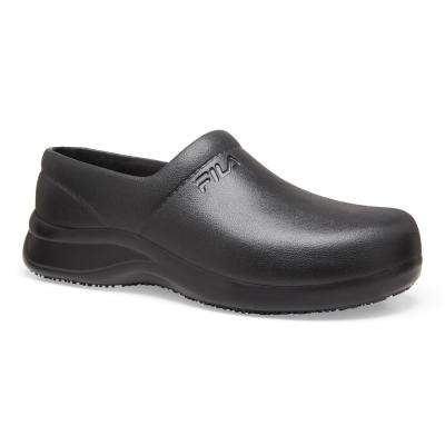 Galvanize Men Black Soft Toe Work Shoe