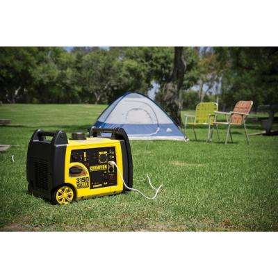 3150-Watt Gasoline Powered Recoil Start Inverter Generator with Champion 171 cc 4-Stroke Engine